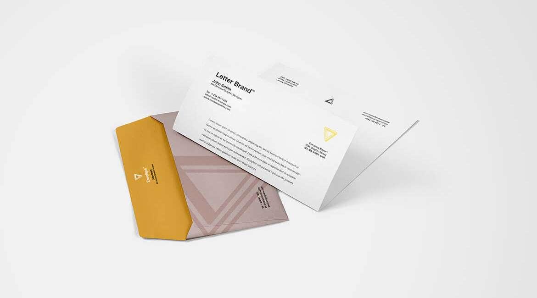 Envelope-with-Letter-Brand-Mockup